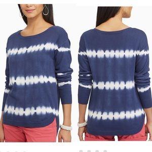Chaps Tie-Dye Scoopneck Sweater